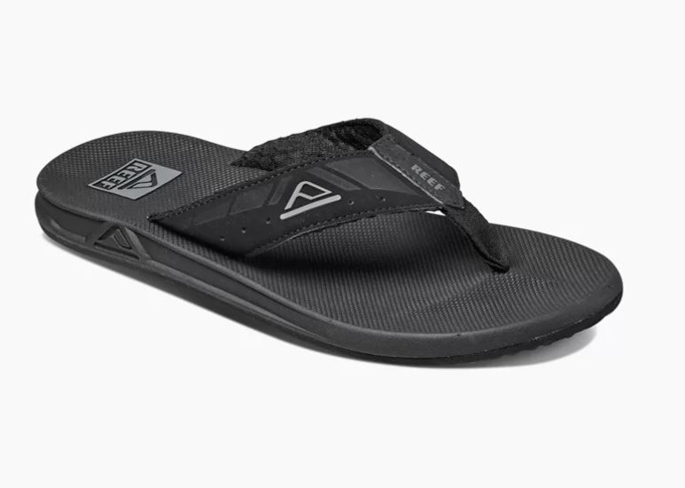 Zwarte heren slippers Reef Phantom Leather - RF002046BLA