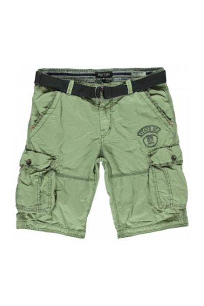 Olijfgroene heren short Cars Jeans - 44043-18