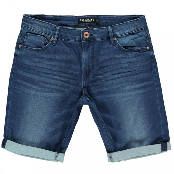 Donkerblauwe heren short Cars Jeans - 4114903