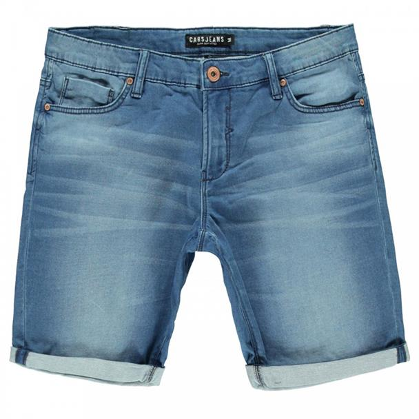 Lichtblauwe heren short Cars Jeans - 4114906
