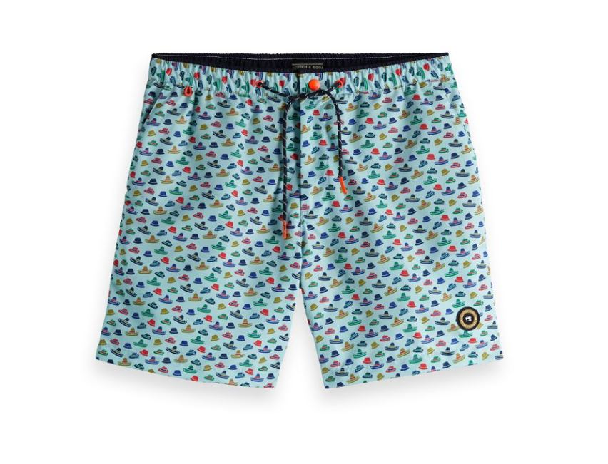 Blauw heren zwemshort met print Scotch And Soda - 148551-0220