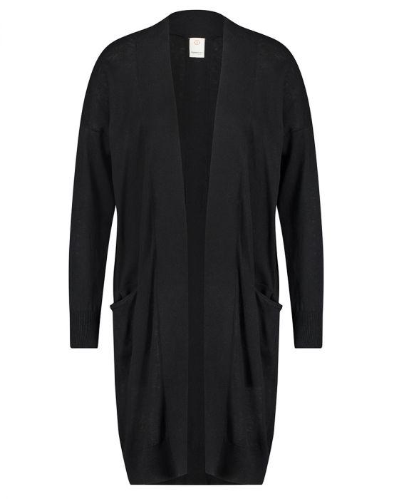 Zwart dames vest Penn & Ink - S19C050 black