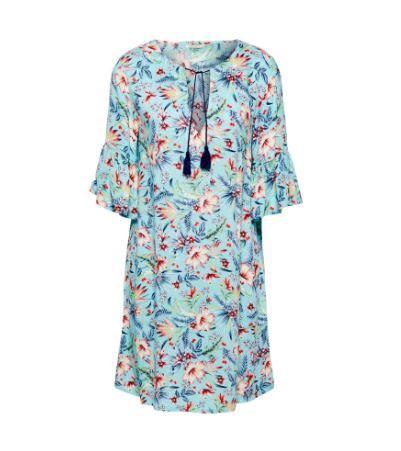 Blauw jurkje met print Esprit - E470