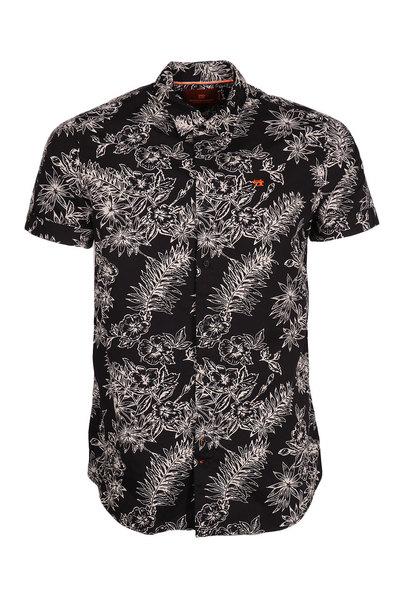 Zwart heren overhemd met print Scotch And Soda - 90213