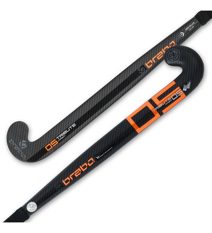 Zwart/oranje hockeystick Brabo TC-5 - 315.92340.000