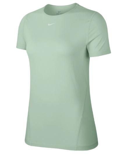 Mintgroen dames t-shirt Nike Pro SS All-over mesh - AJ8827 321