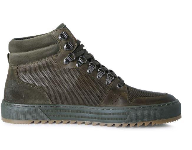Olijfgroene heren schoenen Brunotti Sagres Hi top - F192175067