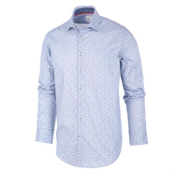 Blauw heren overhemd met bordeaux stippen Blue Industry - 1293.92