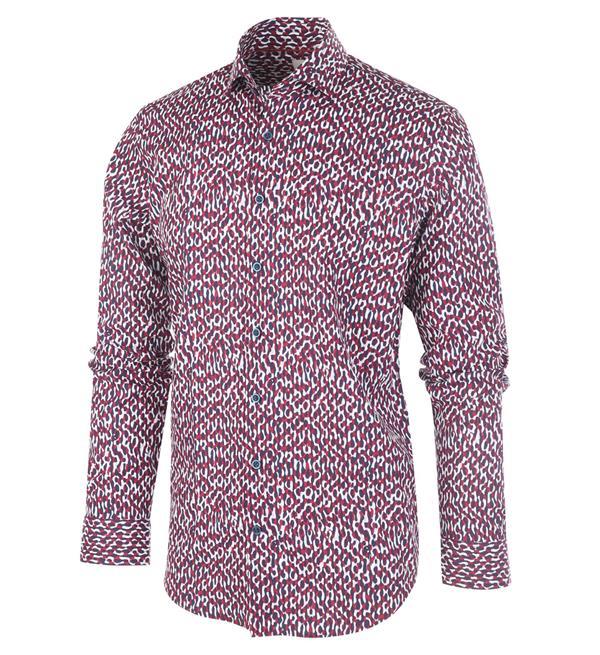 Rood overhemd met allover print Blue Industry - 1143.92