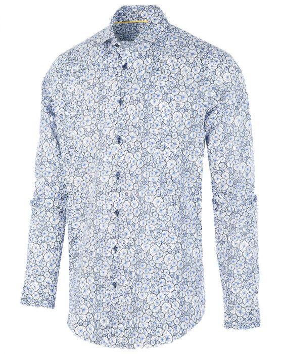 Wit heren overhemd met print Blue Industry - 1262.92