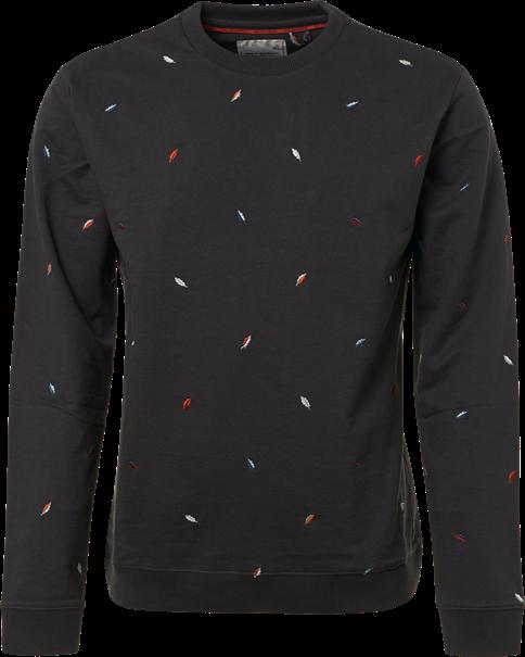 Zwarte heren trui met print No Excess - 92110901 025