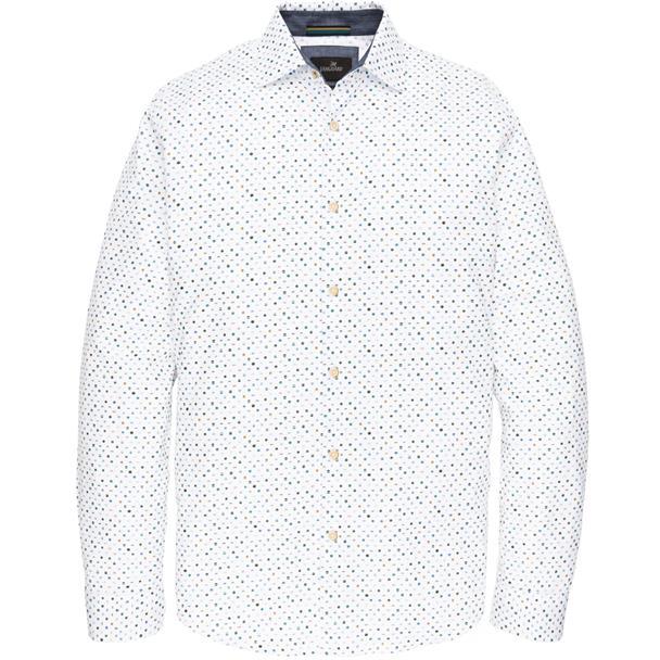 Wit heren overhemd met print Vanguard - VSI196402 7003