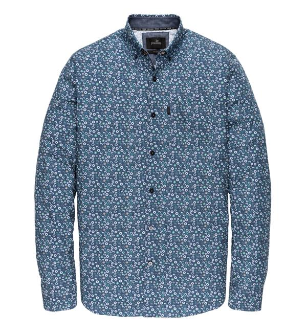 Blauw heren overhemd met print Vanguard - VSI196400 5286