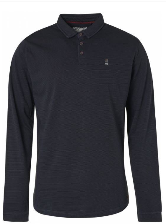 Donkerblauwe heren polo No Excess - 92120881 078