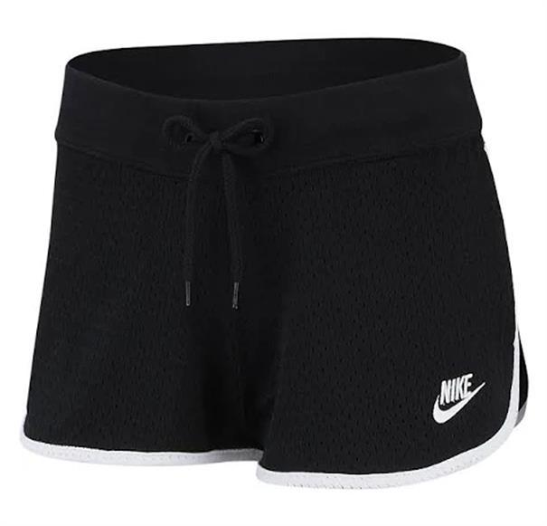 Zwarte dames short Nike Herritage Mesh - BV4850 010