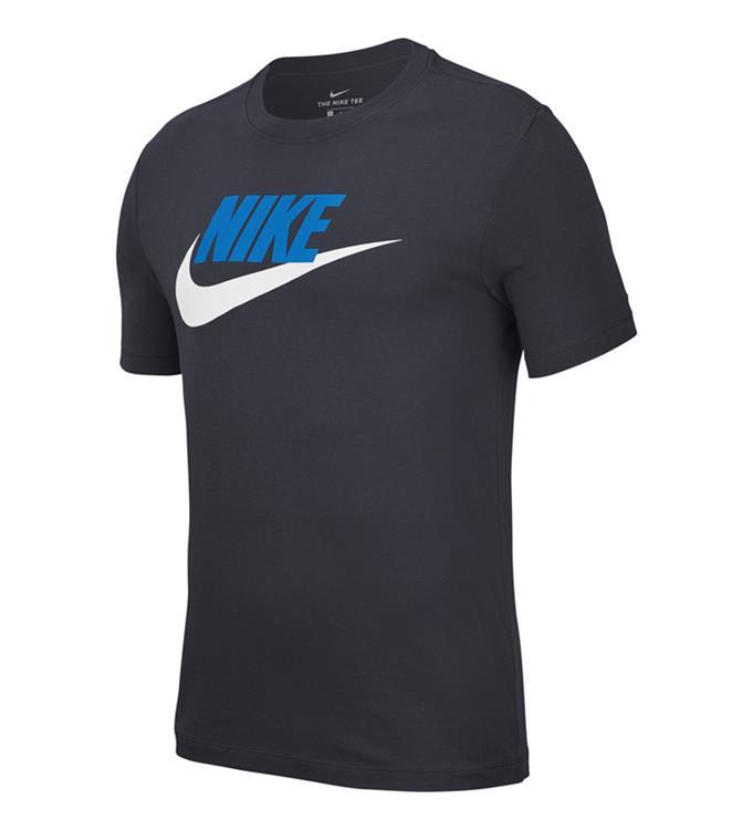 Donkerblauw heren t-shirt Nike Icon Futura - AR5004 453