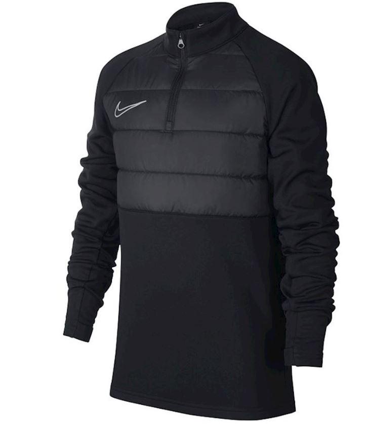Zwarte kindersweater Nike Dry Academy Padded Drill Top - BQ7467 010
