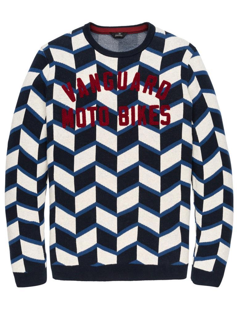 Witte heren trui met print Vanguard VKW197136 5287