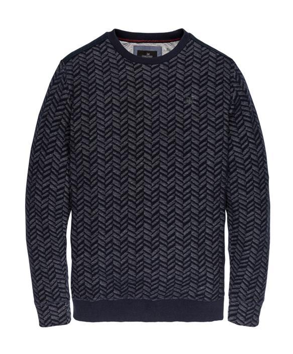 Blauwe heren trui met patroon Vanguard - VSW197215 5281