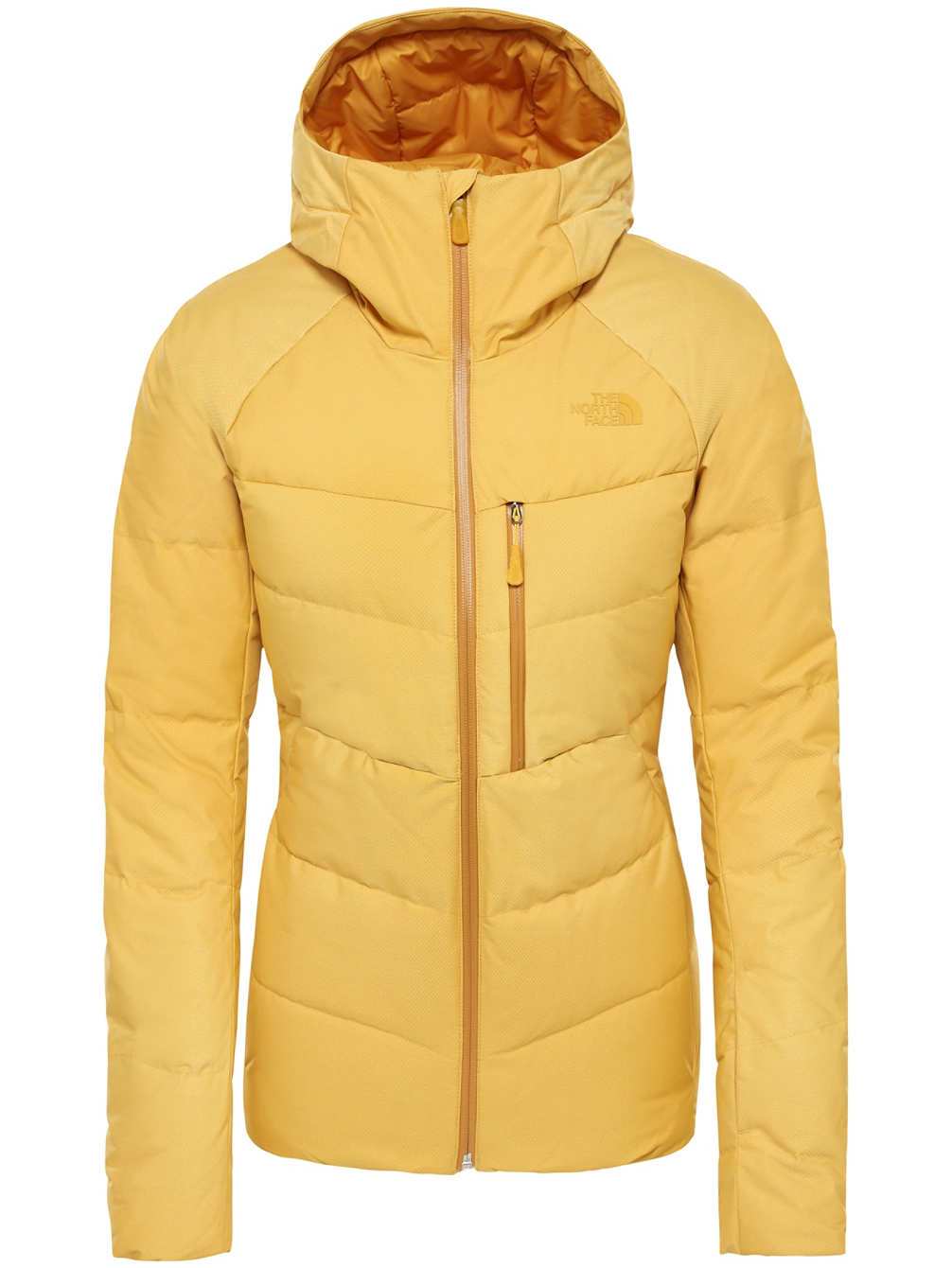 Geel dons jack The North Face Heavenly down jacket Golden spice