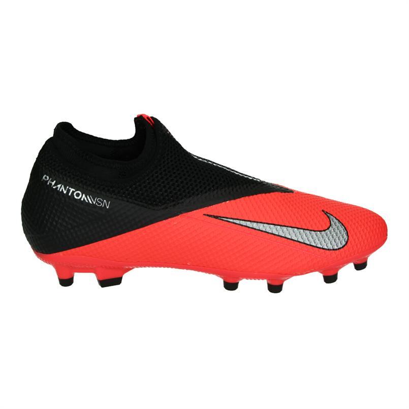 Rood/zwarte voetbalschoenen Nike Phantom VSN 2 Academy FG/MG - CD4156 606