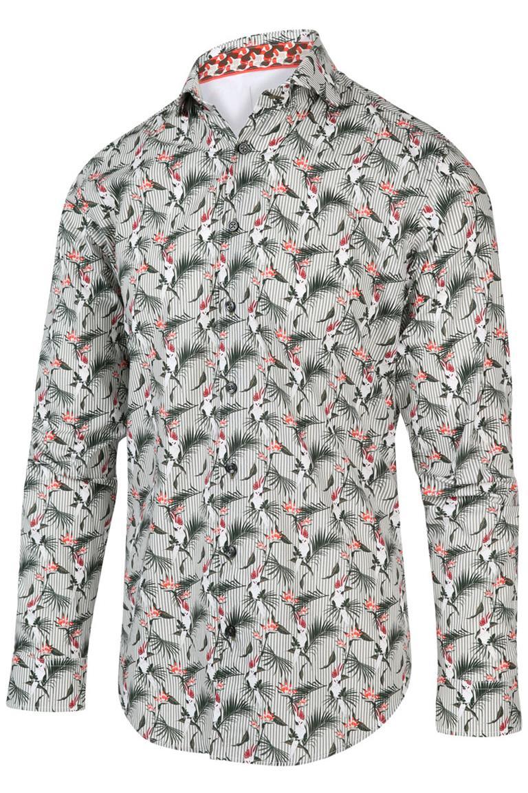 Wit heren overhemd met all-over print Blue Industry - 2042.21