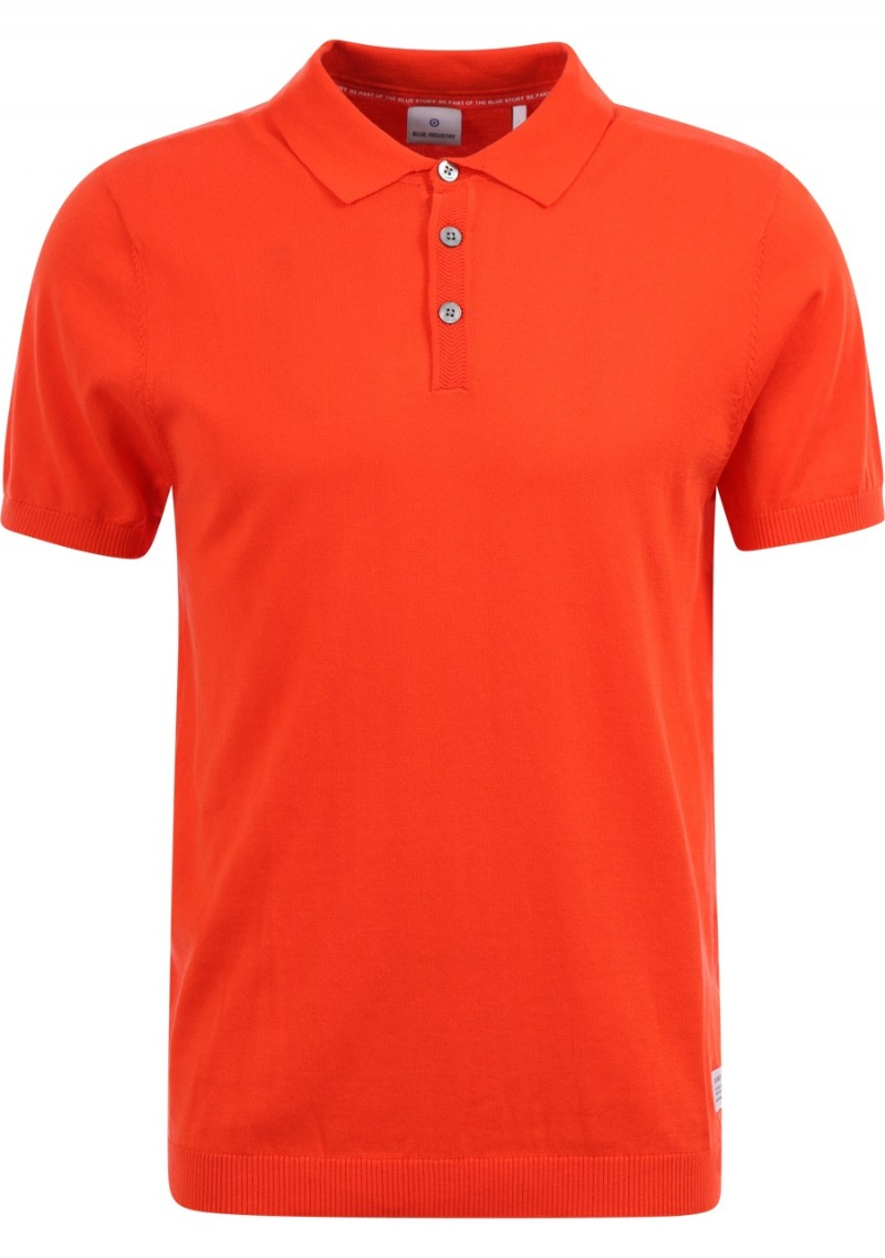 Oranje heren polo Blue Industry - Kbis20-M12