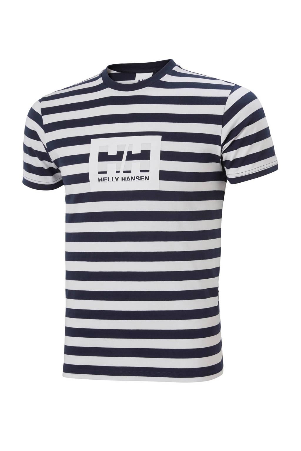 Wit/blauw gestreept heren t-shirt Helly Hansen Tokyo T-shirt - 53285-598