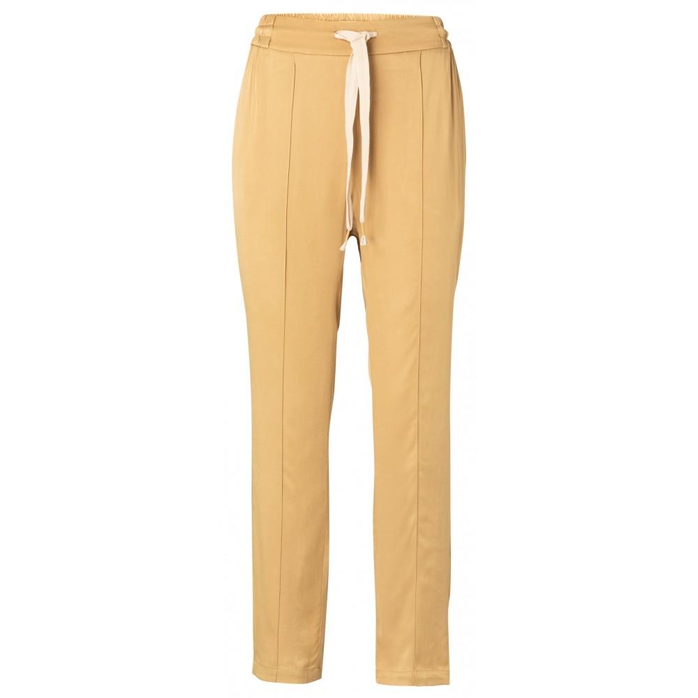 Gele satijnen dames broek YAYA - 1201179-013 99206
