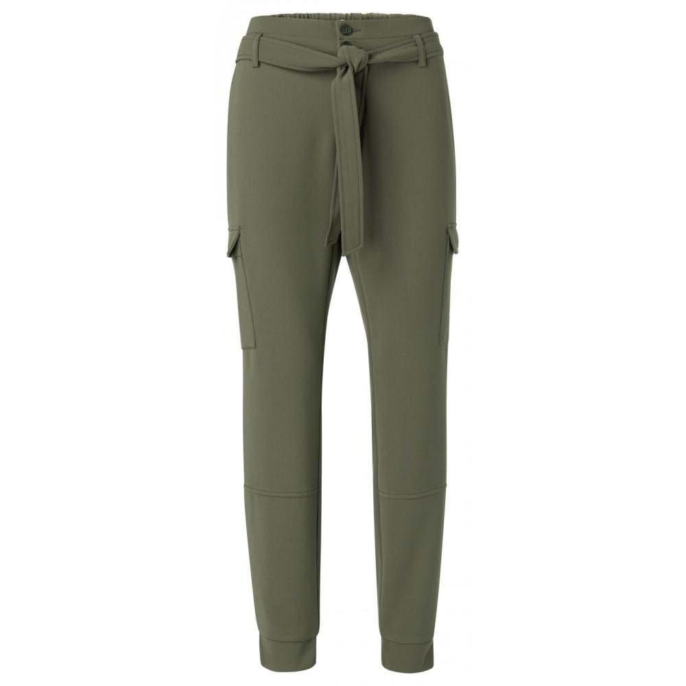 Groene dames broek met cargozakken YAYA 1201101-013 80515