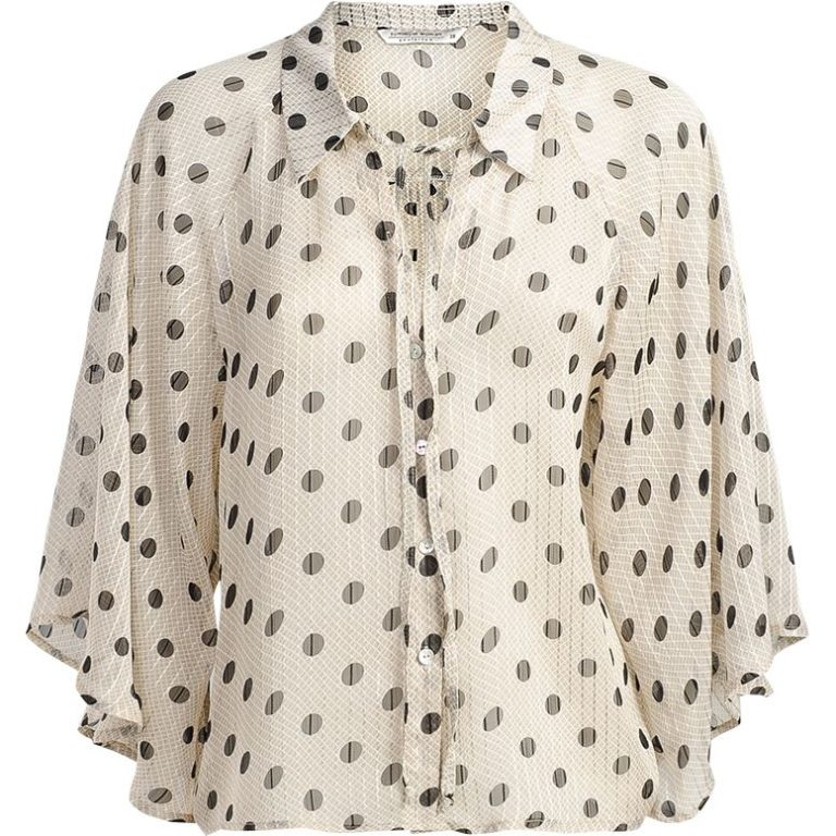 Witte dames blouse met polka dot Summum 2S2405 723
