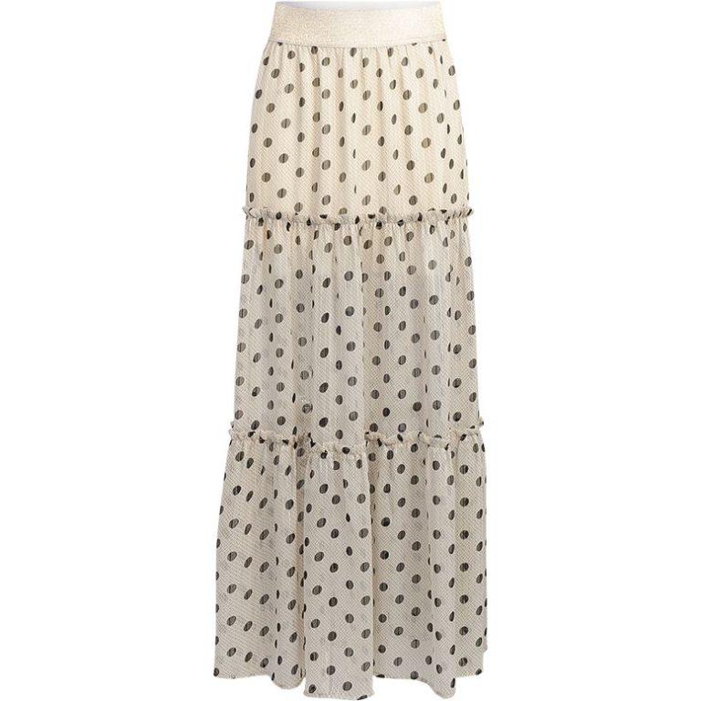 Witte dames rok met polka dot Summum 6S1145-11170 723