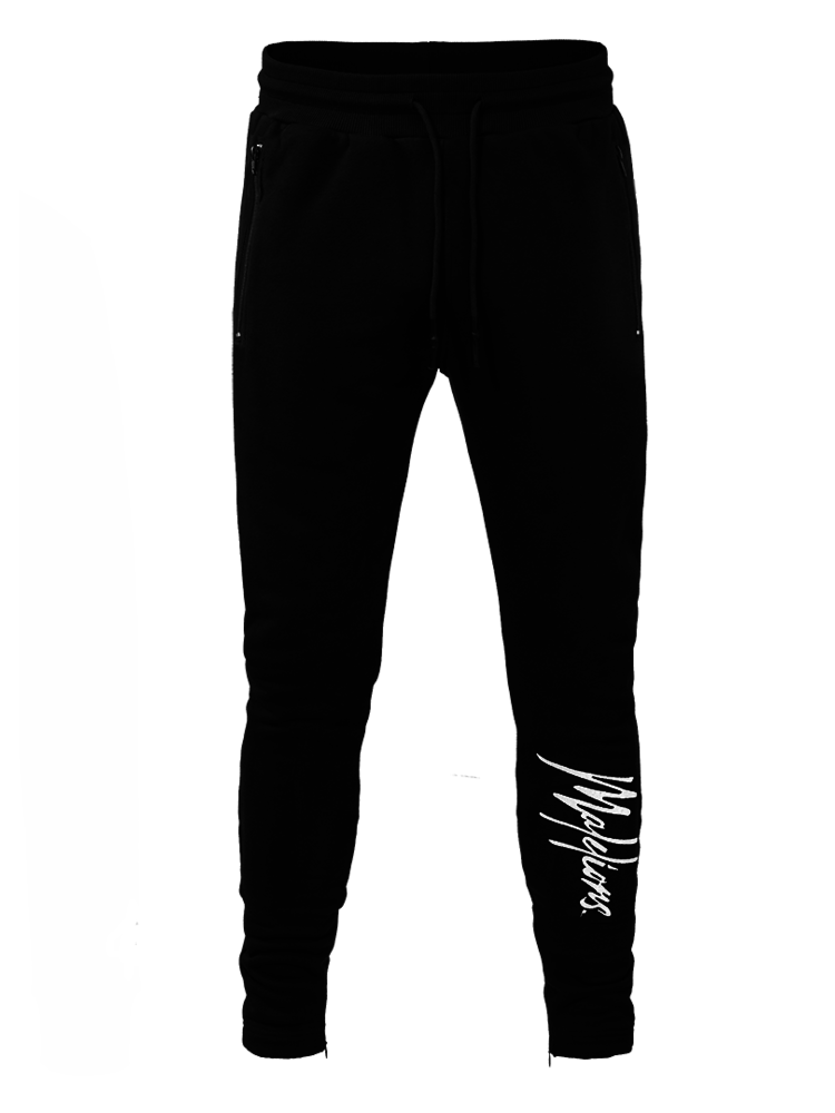 Zwarte heren trainingsbroek Malelions Signature Trackpants