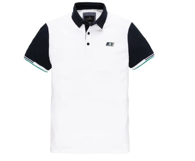 Witte heren polo Vanguard - VPSS202822 7003