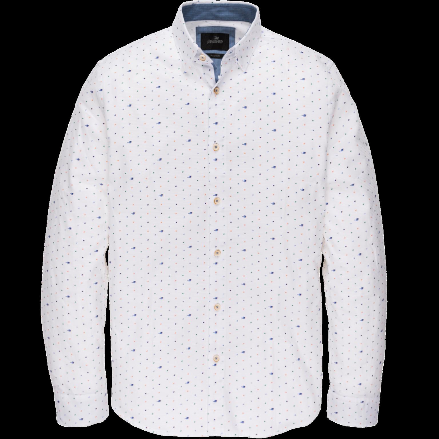 Witte heren blouse met print Vanguard - VSI202230 7003