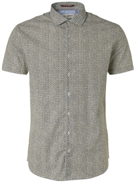 Geel heren overhemd met print No Excess - 95460305 056
