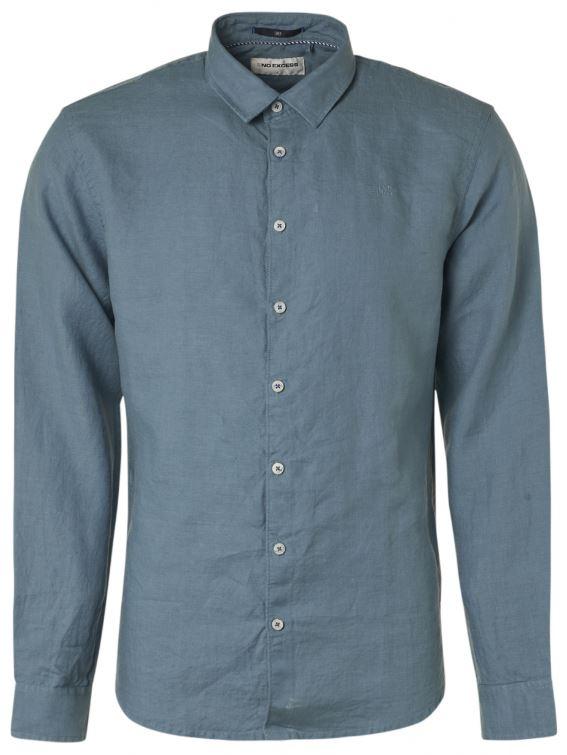 Blauw heren overhemd No Excess - 95450207 123
