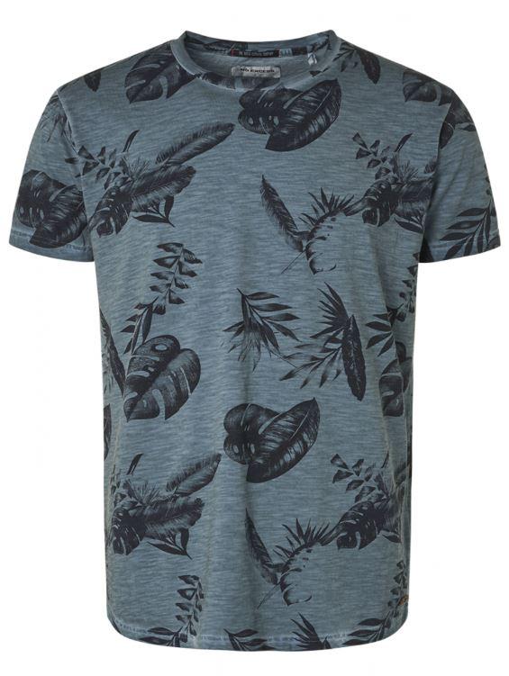Blauw heren tshirt met print No Excess - 95350217 123
