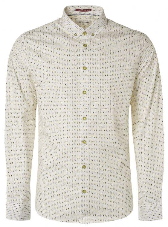 Wit heren overhemd met print No Excess - 95450203 124