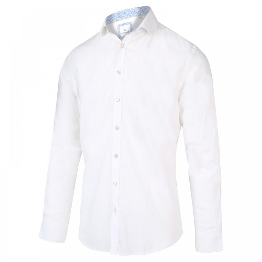 Wit linnen heren overhemd Blue Industry - 2022.21