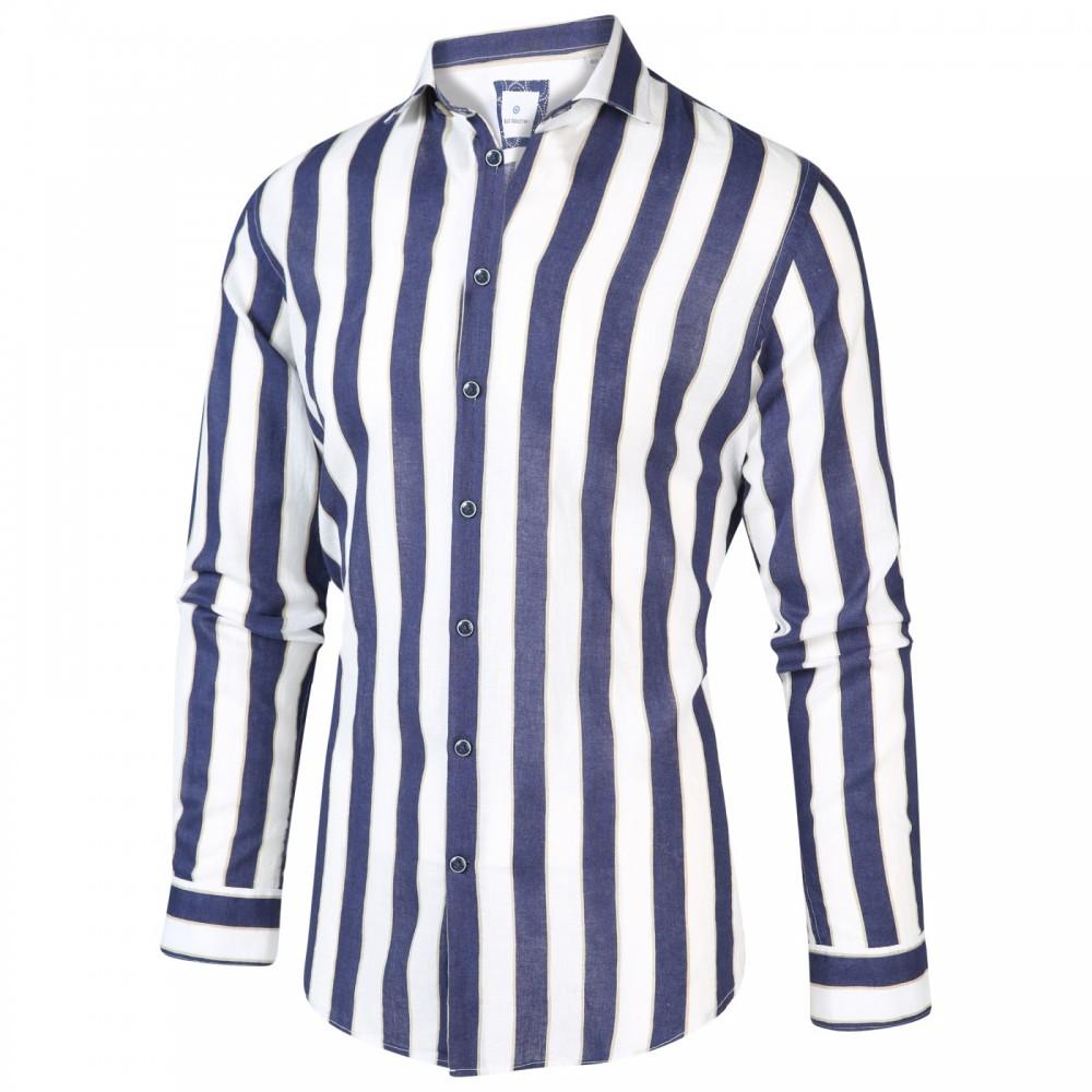 Blauw gestreept heren overhemd Blue Industry - 2016.21