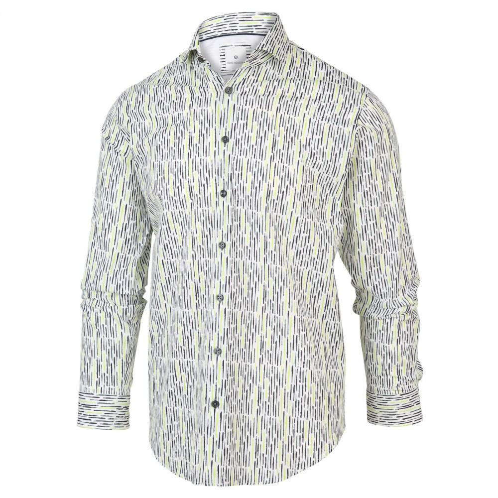 Wit heren overhemd met print Blue Industry - 2067.21