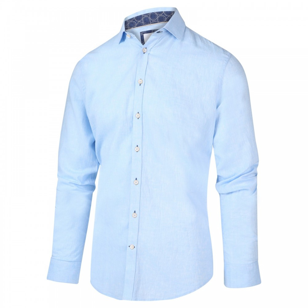 Blauw linnen heren overhemd Blue Industry - 2021.21