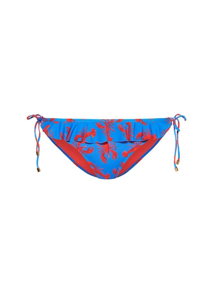 Blauw bikinibroekje met print Cyell Oh My Lobster - 010219-1390