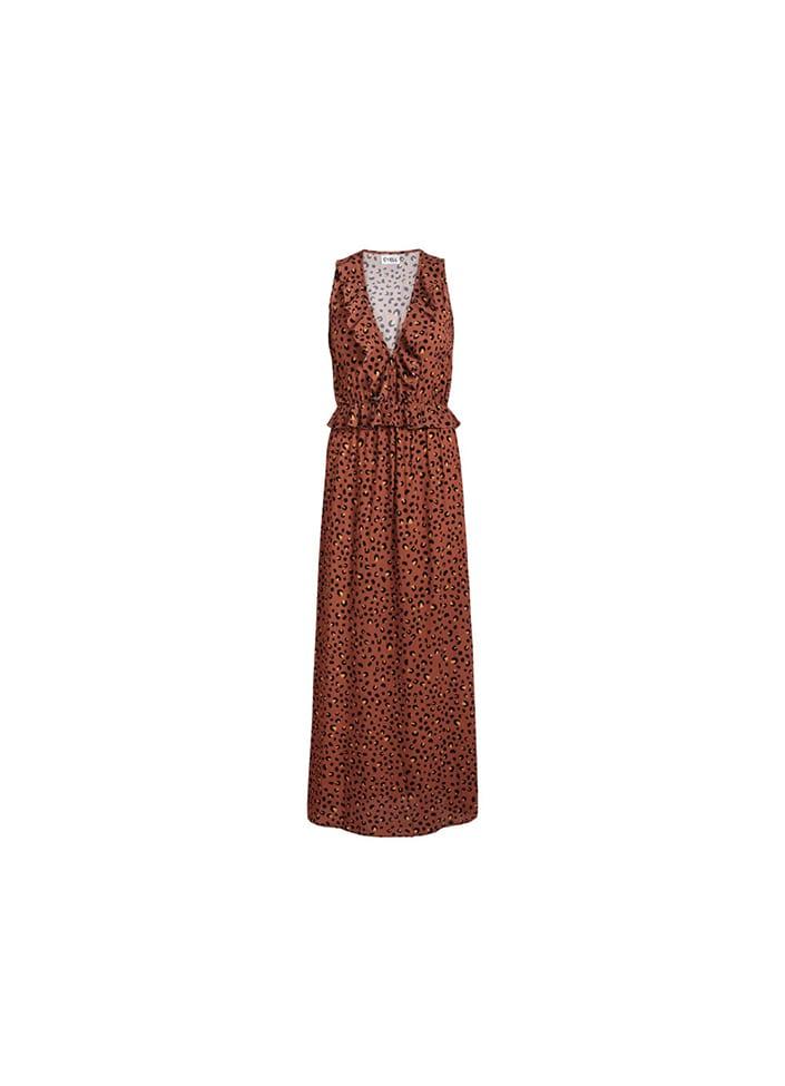 Bruine jurk met print Cyell Wild At Heart - 010478-9270