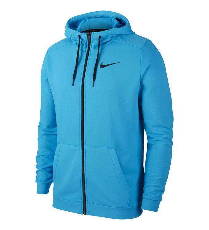 Blauw heren vest Nike Dry Hoodie FZ Fleece - CJ4317 446