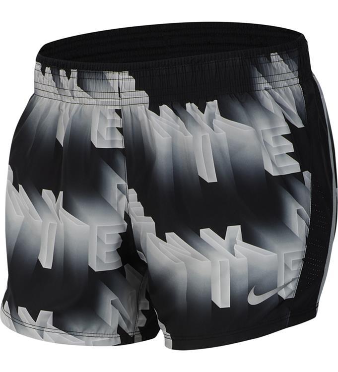 Zwart dames short met print Nike 10K Short - CJ1909-077