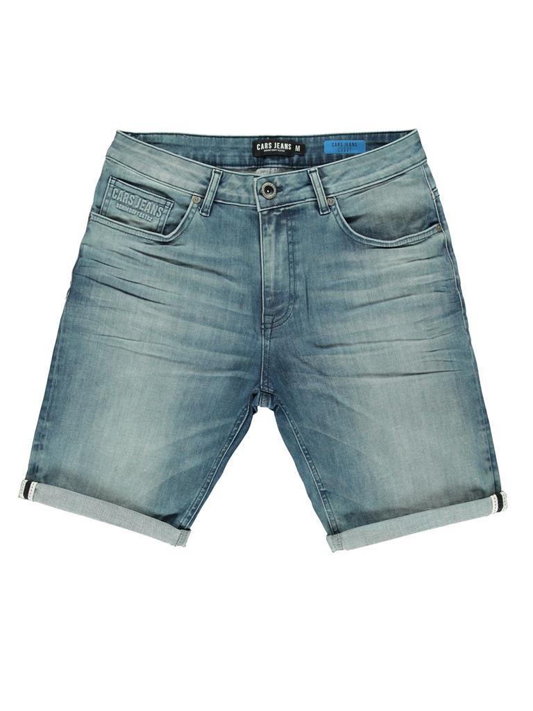 Blauw heren denim short Cars Tranes - 4039779 green cast used