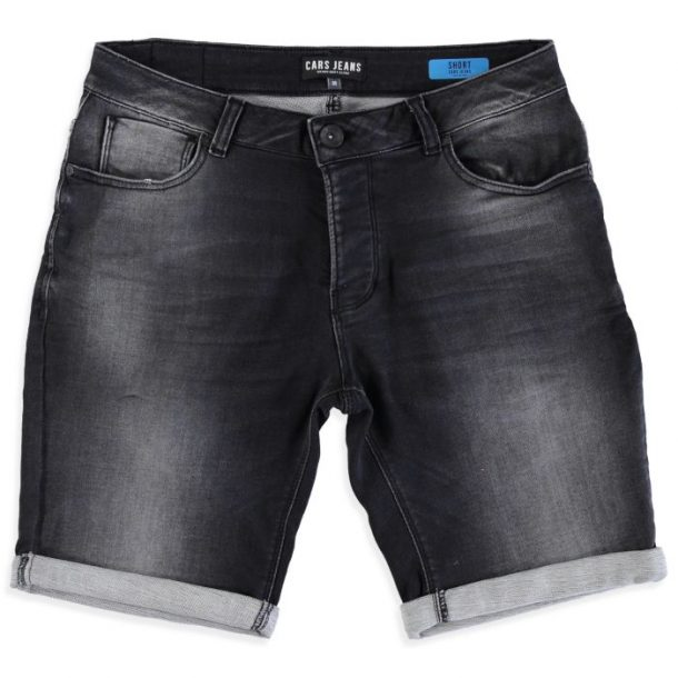 Zwart heren short Cars Atlanta denim - 4336701