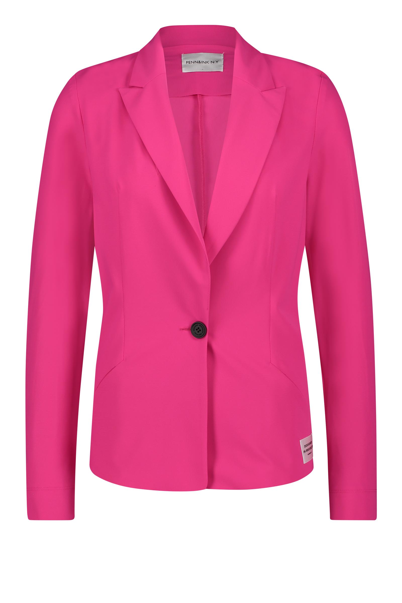 Roze dames blazer Penn & Ink - S20N730Ltd shocking pink